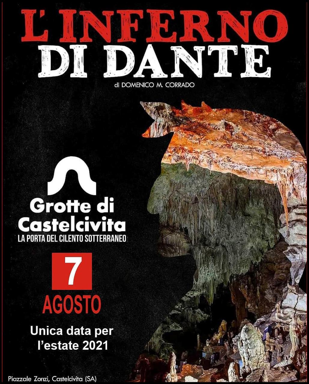 Inferno di Dante nelle Grotte di Castelcivita data evento 7 Agosto 2021